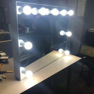 800 X 500 Hollywood Style Frameless Wall Mirror