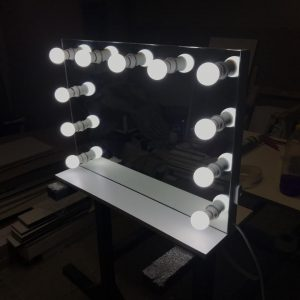 700 X 550 Hollywood Style Vanity Top Frameless Mirror