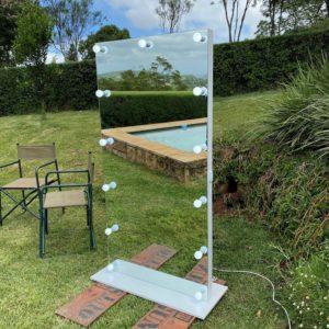 1900H X 700L freestanding frameless Hollywood mirror