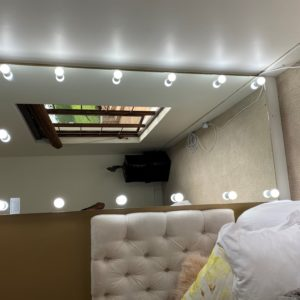 1900H X 700W Frameless Wall mounted Hollywood mirror