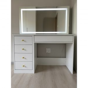 1300 5 Drawer glam station with LED Mirror